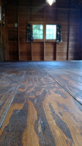 Up close and personal with the floors.