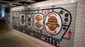 Train station art.