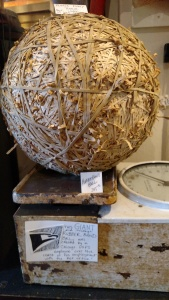 Giant rubber band ball at an oddities shop in Andersonville