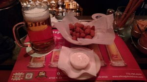Cheese curds and beer...SO good.